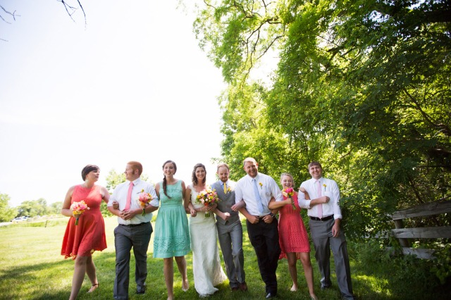 our wedding day bridal party