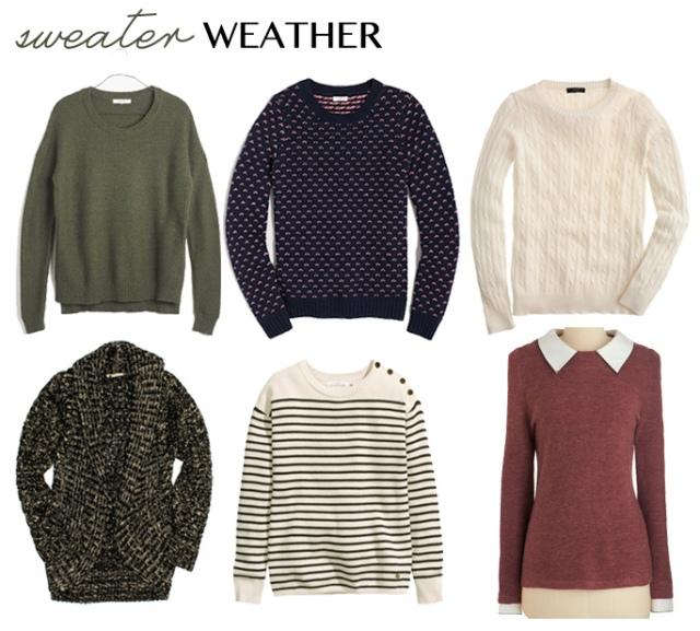 sweater weather picks