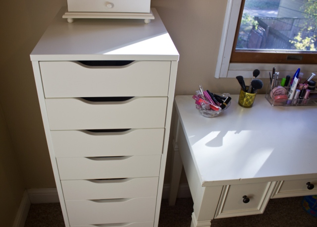 makeup storage updated ikea alex drawers 2
